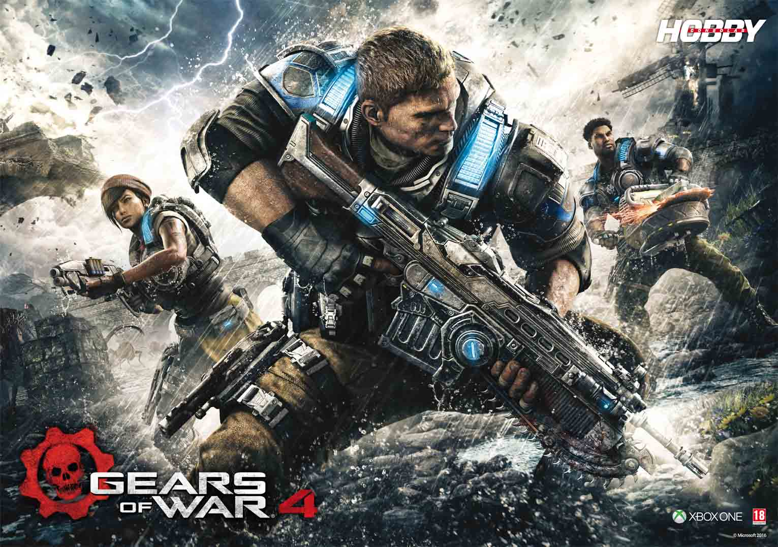 Hobby Consolas 302 poster Gears of War 4