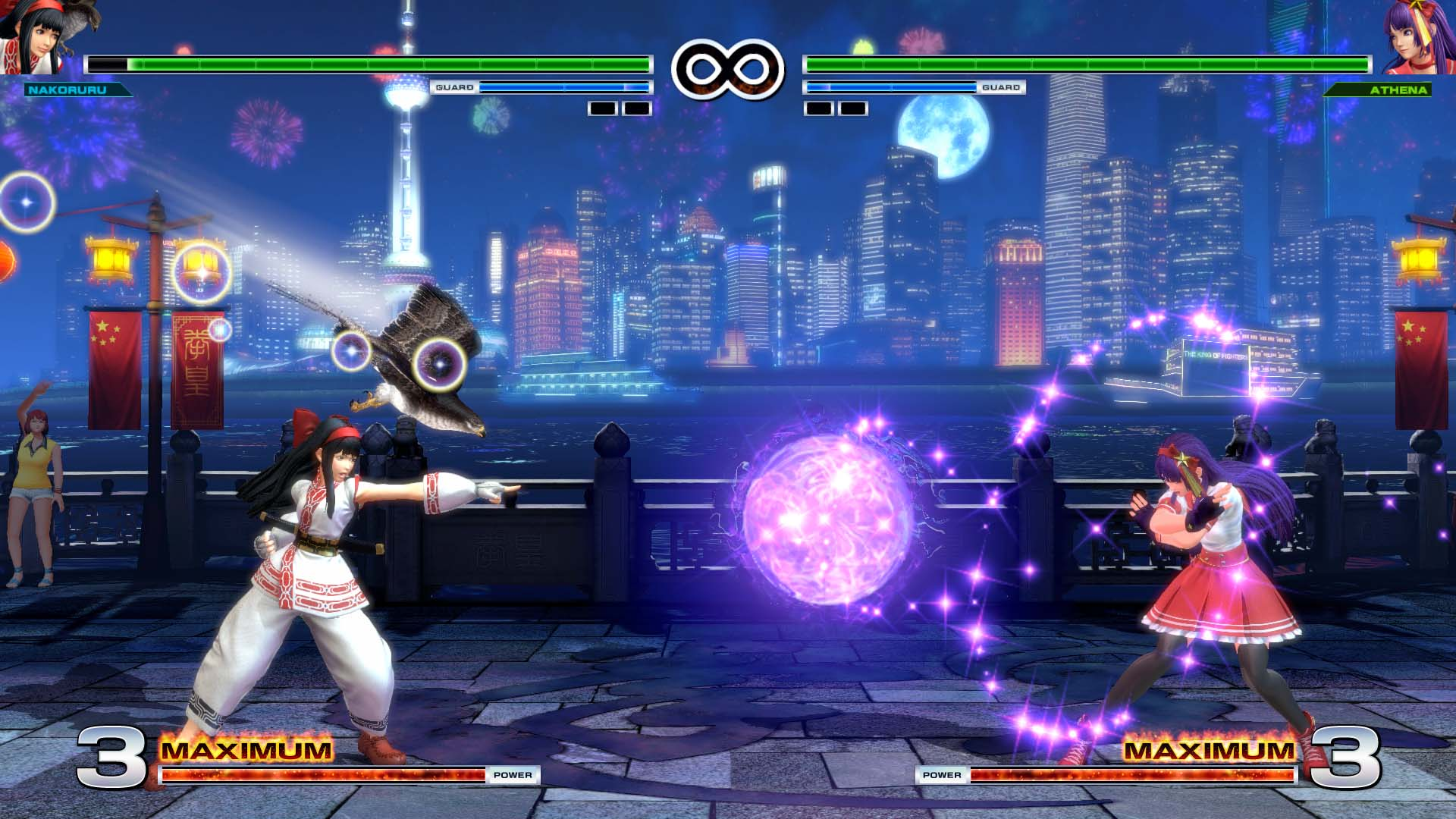 KOFXIV - Nakoruru vs Athena