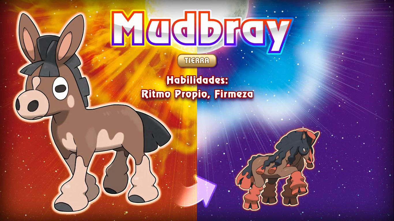 Mudbray en Pokémon Sol y Luna