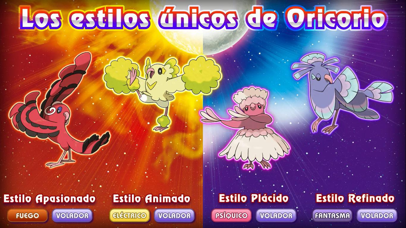 Oricorio en Pokémon Sol y Luna