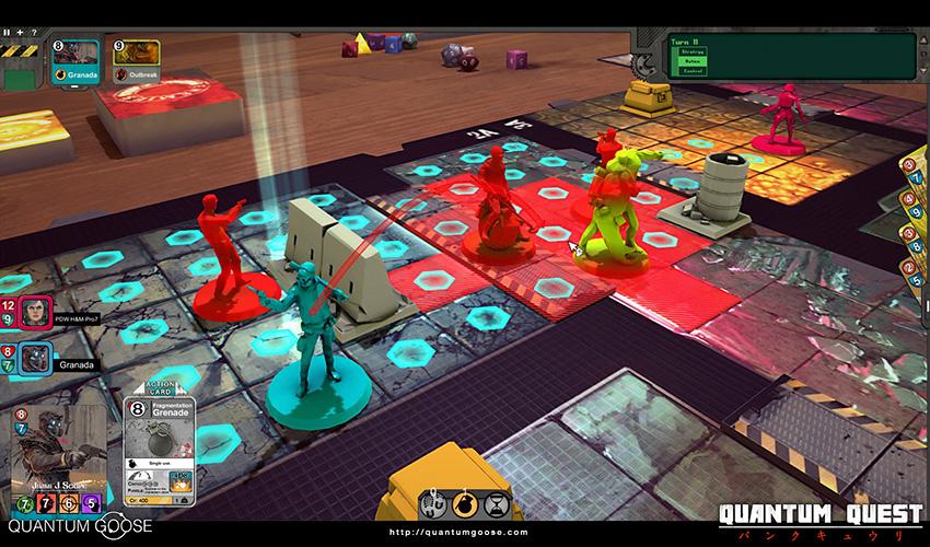 Quantum Quest tablero