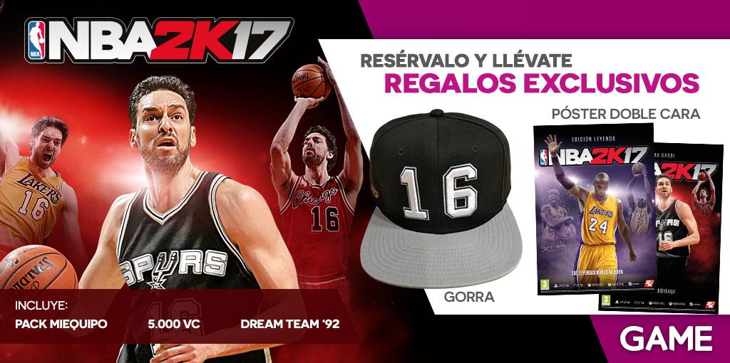 Regalos reserva NBA 2K17