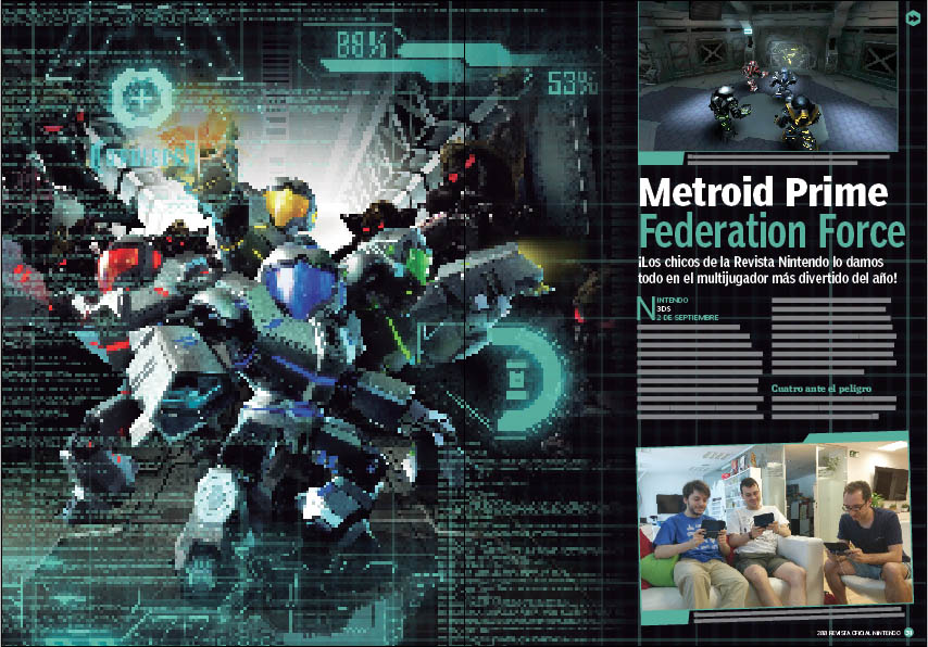 Reportaje y análisis de Metroid Prime Federation Force.