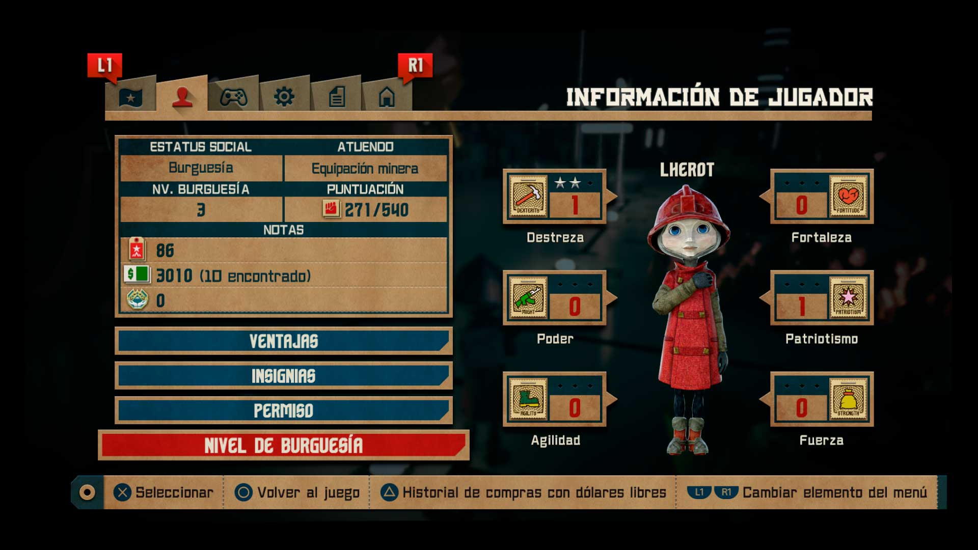 Análisis The Tomorrow Children progresión