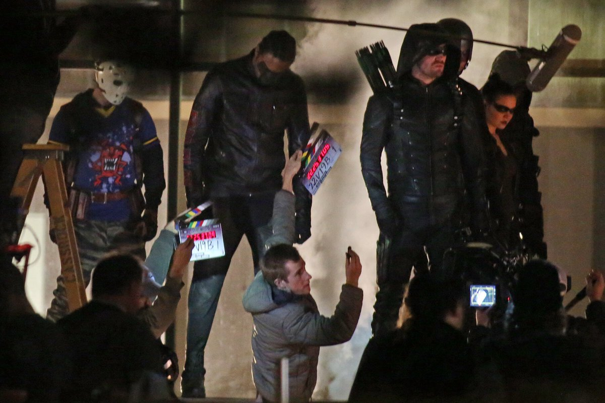 Arrow temporada 5 fotos set de rodaje