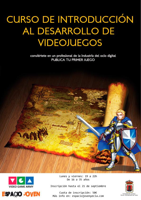 Curso Videojuegos Murcia - Cartel