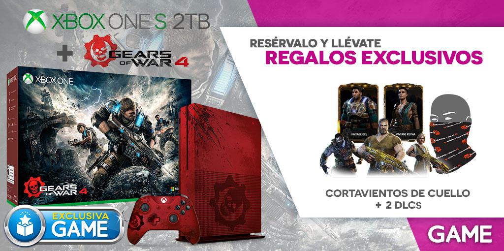 Gears of War 4 - Xbox One S y regalos de reserva