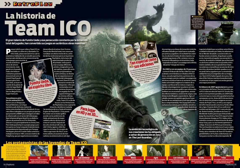 La historia de Team ICO en Playmanía