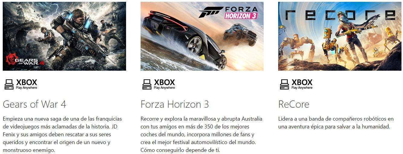 Juegos de Xbox Play Anywhere