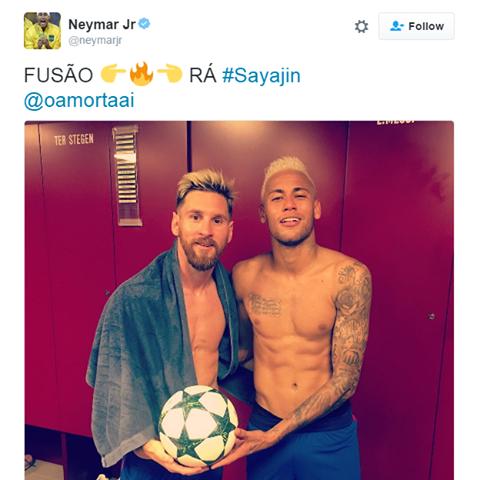 Messi Neymar Saiyajin