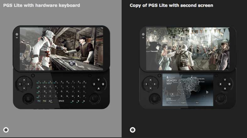 PGS doble pantalla o teclado
