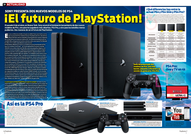 PS4 Pro en Playmania 215