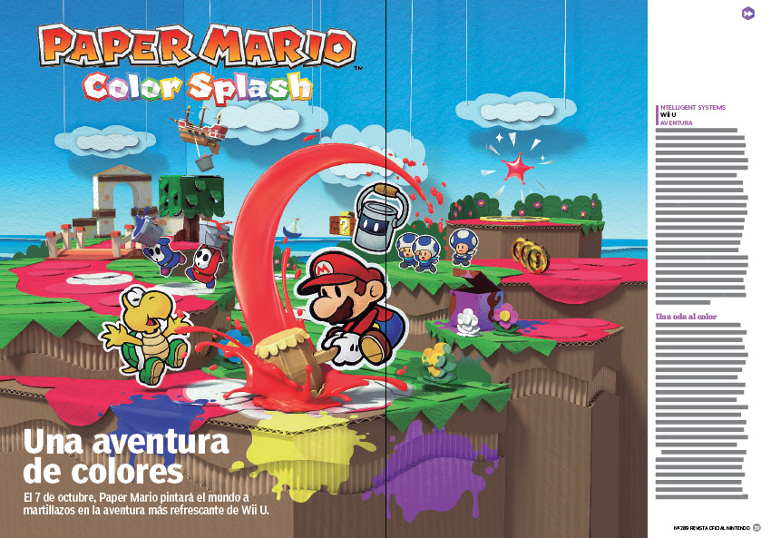 Reportaje Paper Mario Color Splash