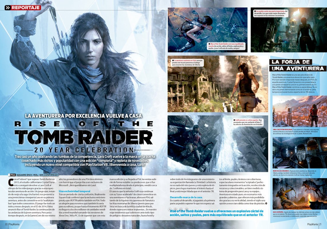Rise of the Tomb Raider en Playmania 215