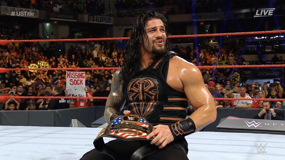 Roman Reigns, Campeón de Estados Unidos de la WWE