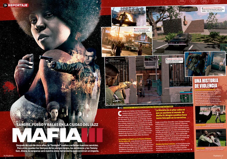 Todo sobre Mafia III en Playmanía 215
