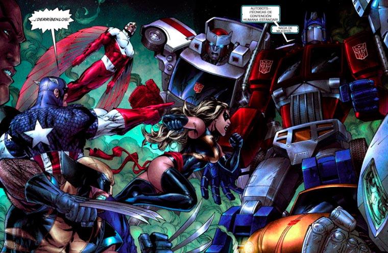Vengadores vs Transformers