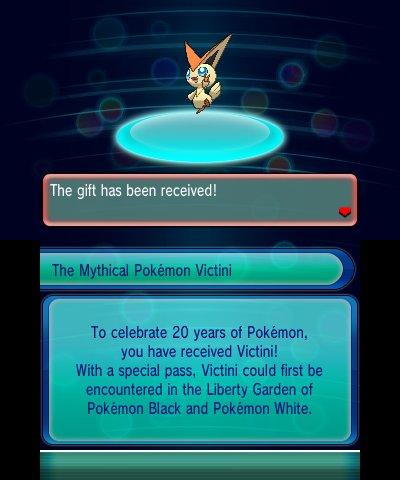 Victini para Pokémon 3DS