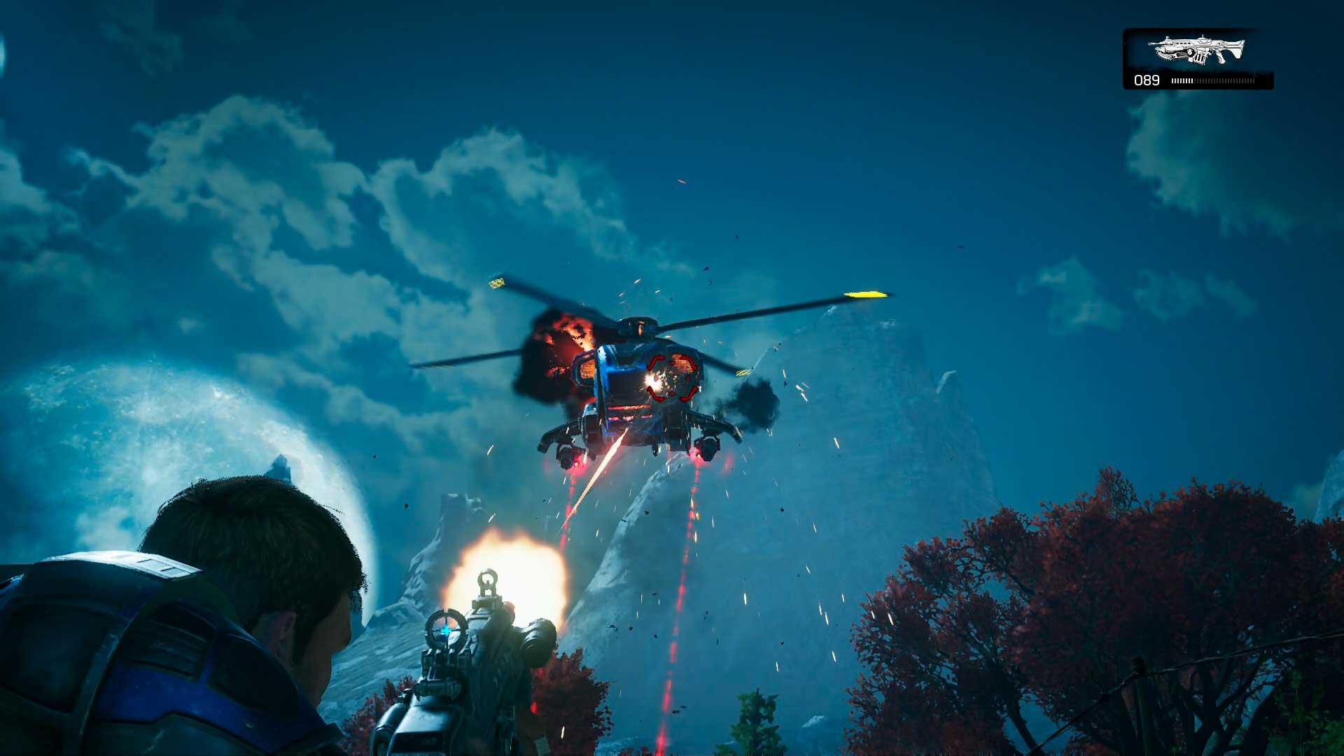 Análisis Gears of War 4 helicóptero