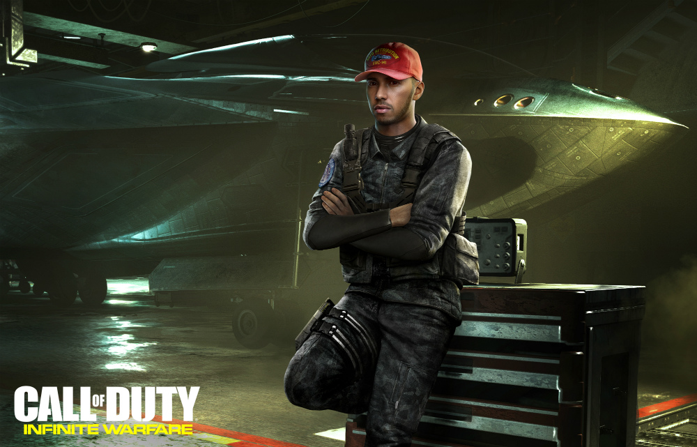 Lewis Hamilton en Call of Duty Infinite Warfare