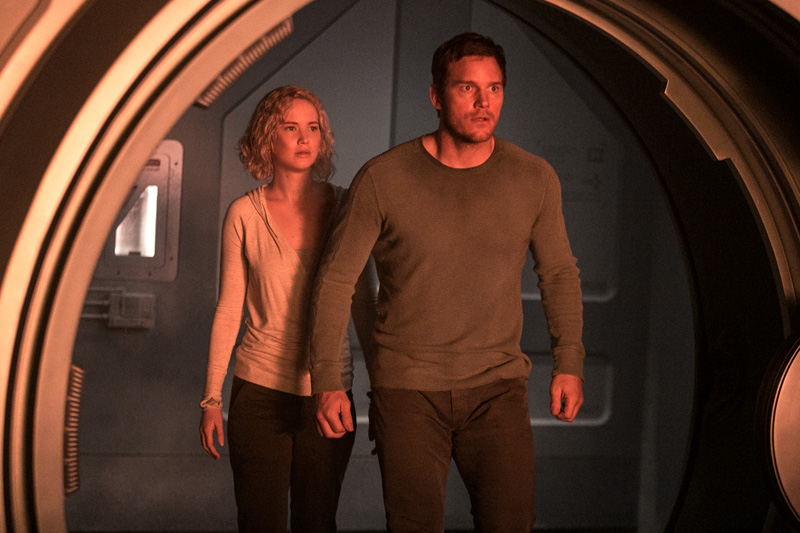Passengers - nuevas fotos de Chris Pratt y Jennifer Lawrence