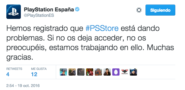 Problemas PS Store