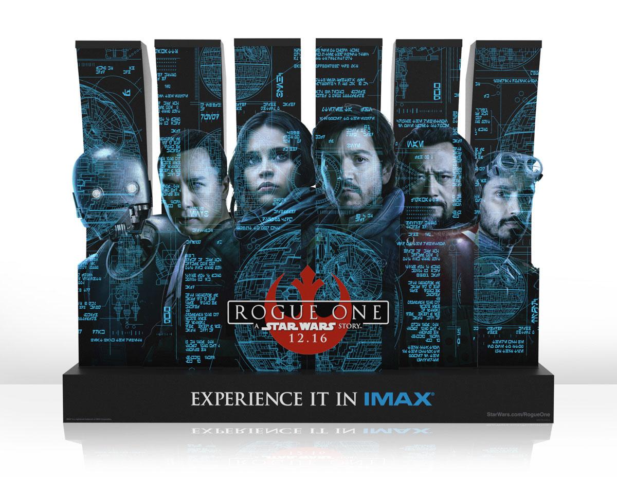 Totem publicitario Rogue One IMAX