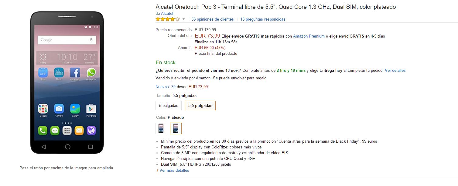Alcatel OneTouch Pop 3
