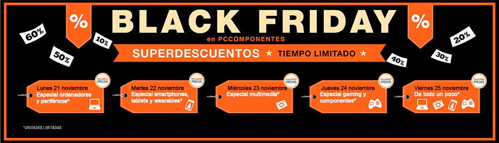 Black Friday 2016 en PC Componentes
