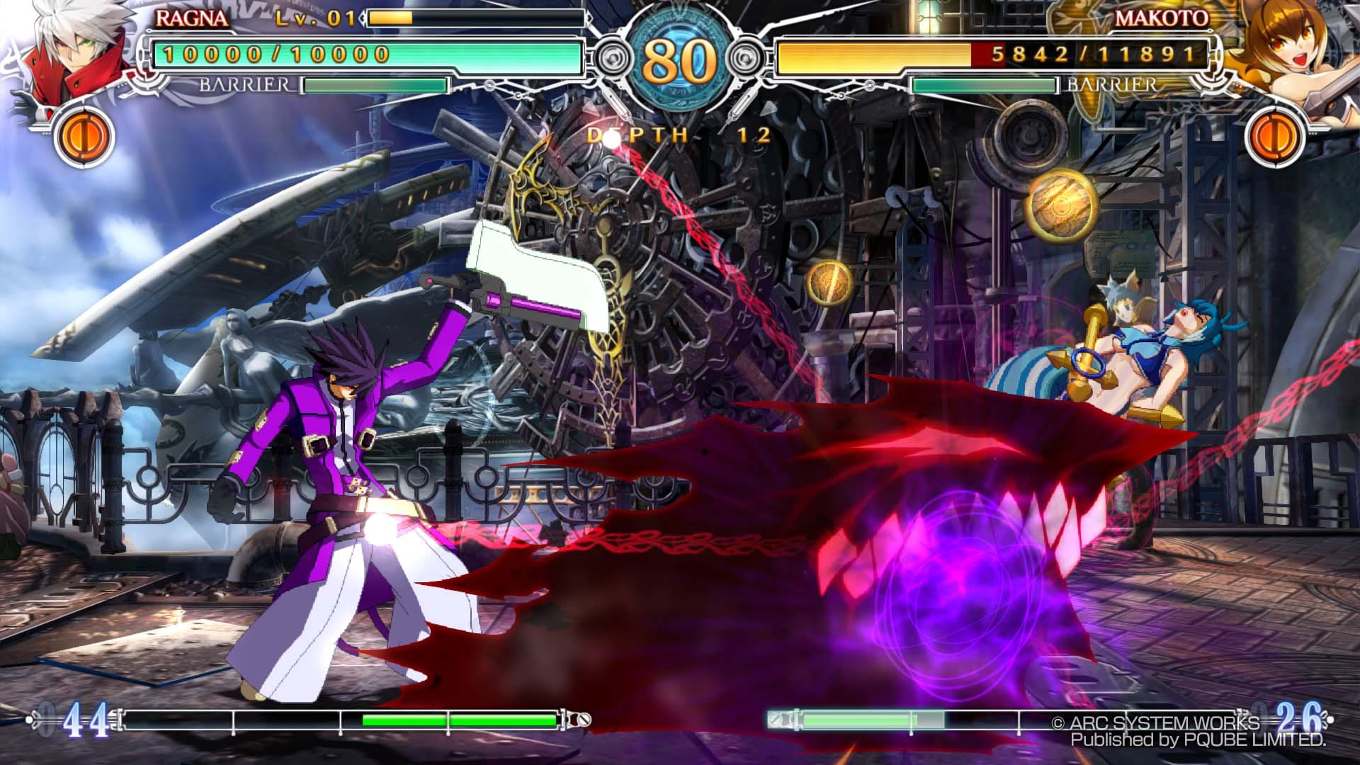 BlazBlue CentralFiction Ragna Vs Makoto