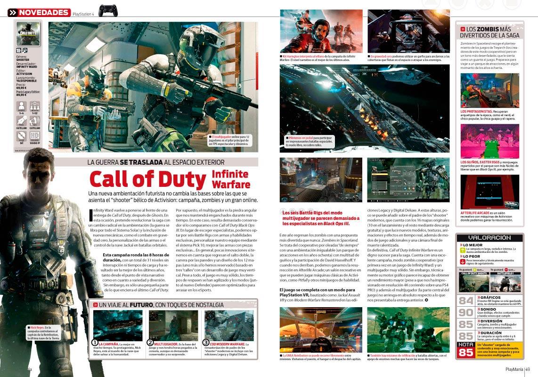 CoD Infinite Warfare - Análisis en Playmanía 217