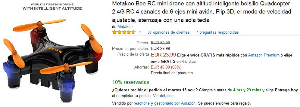 Black Friday Amazon - Dron Metakoo Bee RC mini