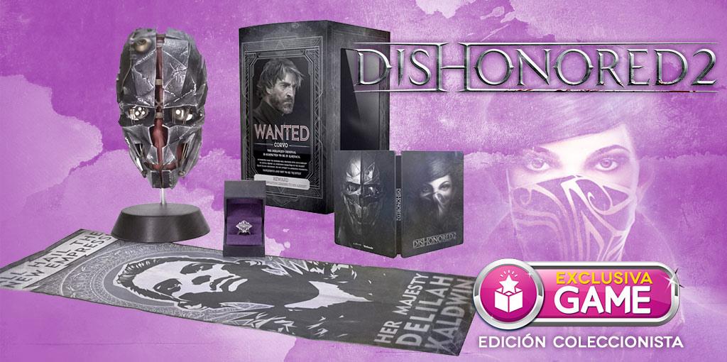 Edición Coleccionista de Dishonored 2 exclusiva de GAME