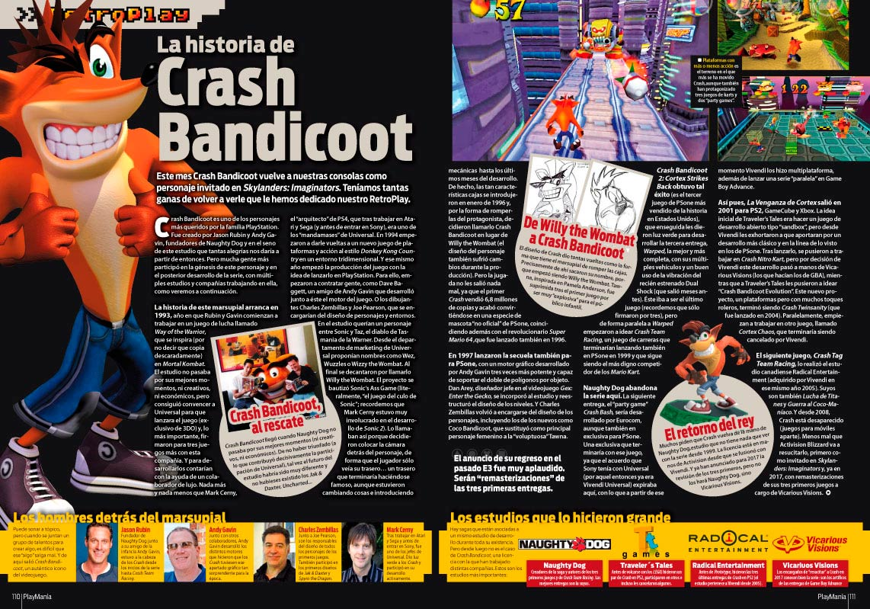 La Historia de Crash Bandicoot en Playmanía 217