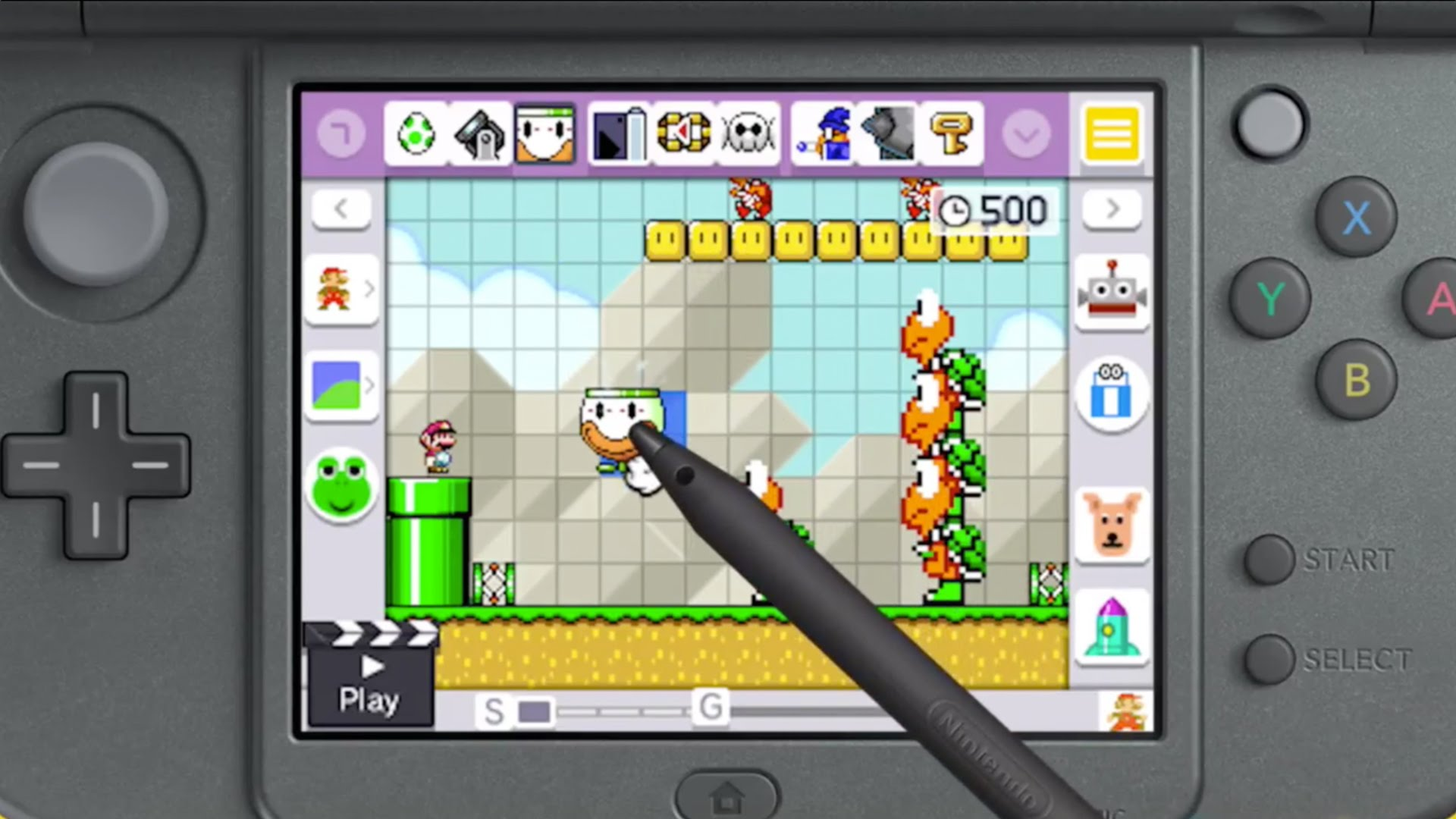 how to search for levels in super mario maker 3ds