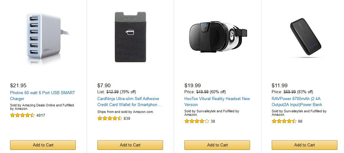 Ofertas móviles de la cuenta atrás de Amazon para el Black Friday