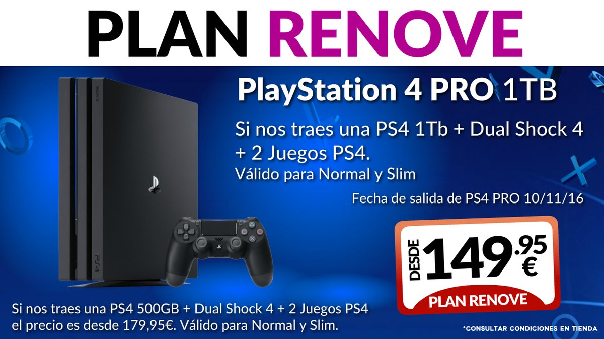 Plan renove PS4 Pro de GAME