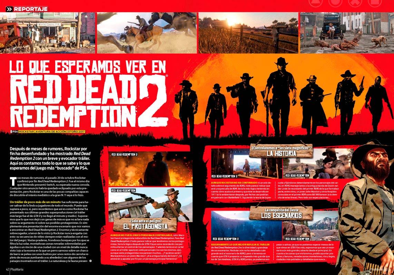 Red Dead Redemption 2 en Playmanía 217