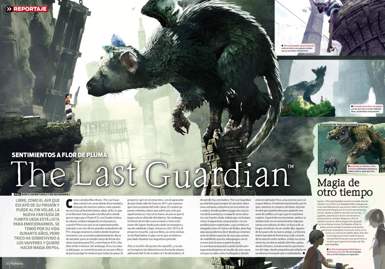 The Last Guardian en Playmanía 217