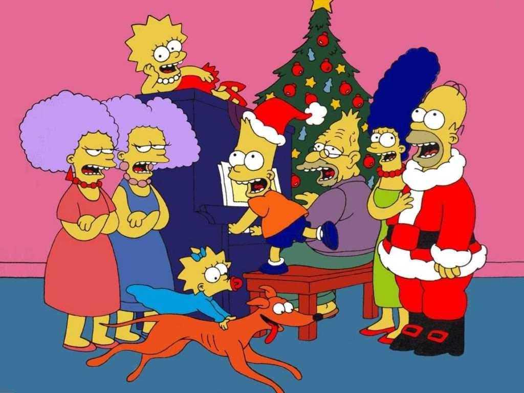 Christmas Simpson Family