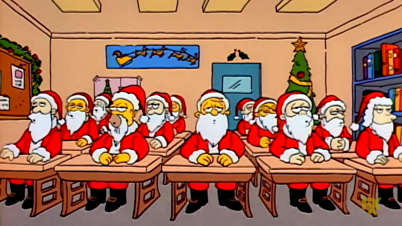 Santa claus simpson