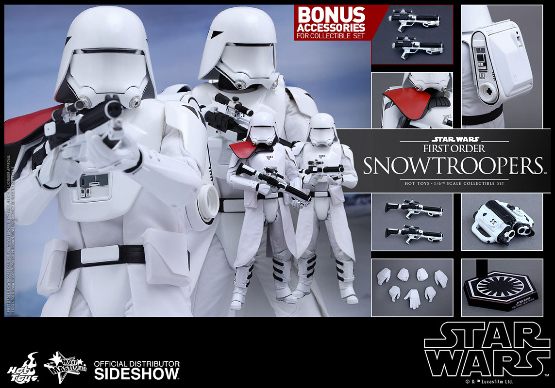 Oferta black friday del pack doble de Snowtroopers de Hot Toys