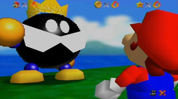 Super Mario 64 - Rey Bob-omb