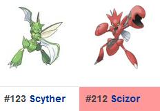 Pokémon Go - Scyther/Scizor