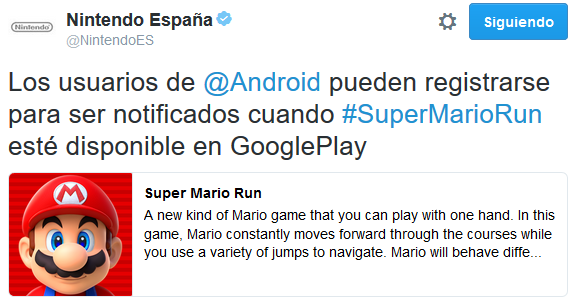 Abierto el registro de Super Mario Run para Android