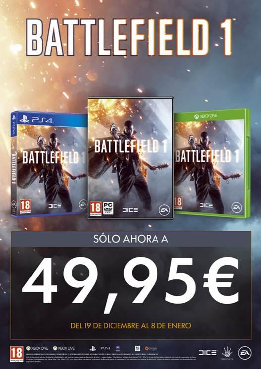 Battlefield 1 baja de precio