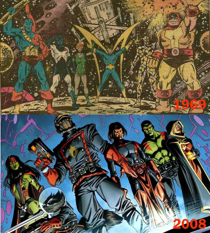 Guardianes de la Galaxia - Grupo original y grupo moderno