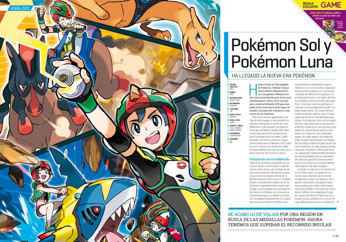 Hobby Consolas 305 Análisis Pokémon Sol y Luna