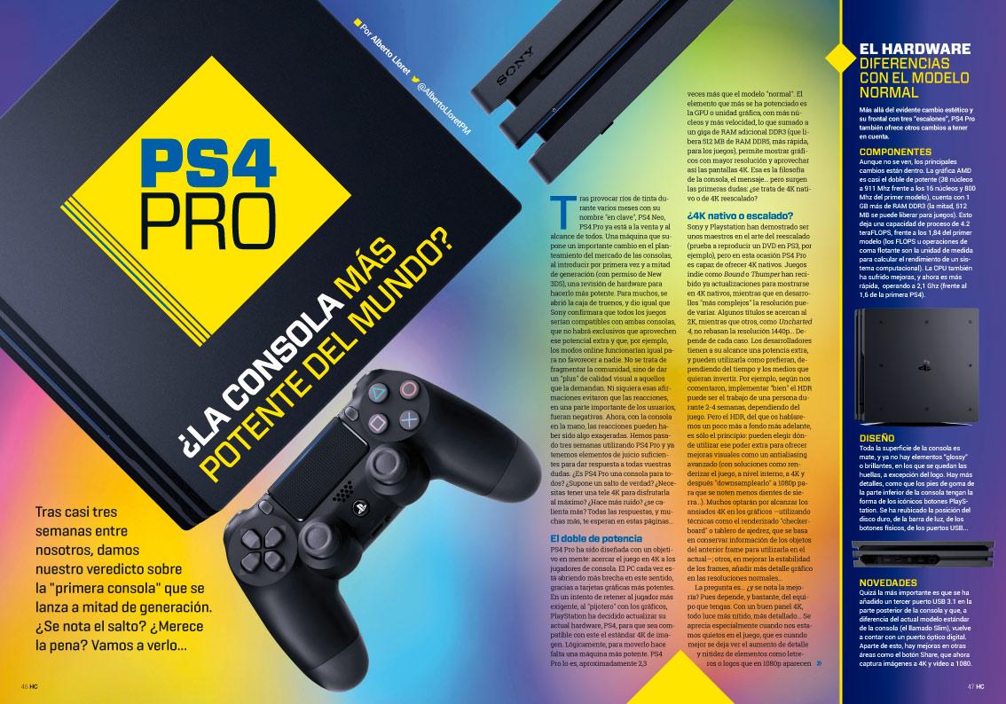 Hobby Consolas 305 Reportaje PS4 Pro