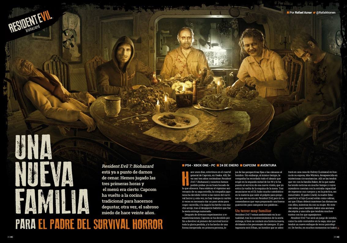 Hobby Consolas 305 Reportaje Resident Evil VII